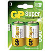 Батарейка GP Super Alkaline 13А-S2 щелочная LR20 D 2шт в спайке