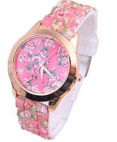 Часы с цветочками