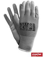 Защитные рукавицы изготовленные из полиэстера, покрытые полиуретаном RTEPO SS