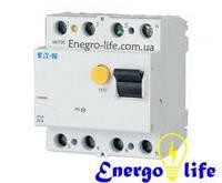 Устройство защитного отключения EATON PF4-63/4/003 защищает проводку от коротких замыканий, перегрузок, от утечек и поражения током (арт.293177)
