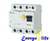 Устройство защитного отключения EATON PF6-25/4/003 защищает проводку от коротких замыканий, перегрузок, от утечек и поражения током (арт.286504)