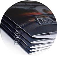 Постпечатные работы: биговка, фальцовка, ламинация, брошюровка, высечка, тиснение, конгрев сшивка на скобу