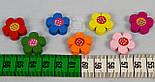 """Набор деревянного декора для рукоделия """"Разноцветные цветочки """" (7шт), фото 3"""