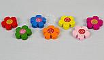 """Набор деревянного декора для рукоделия """"Разноцветные цветочки """" (7шт), фото 4"""