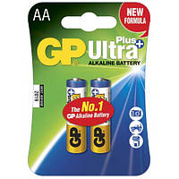 Батарейка GP Ultra Plus Alkaline 24АUP-S2 щелочная LR03 ААА 2 шт в спайке