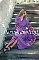 Платье женское с вышивкой СЖ 3006