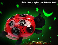 Божья коровка черепаха ночник-проектор звездного неба музыкальная LadyBug