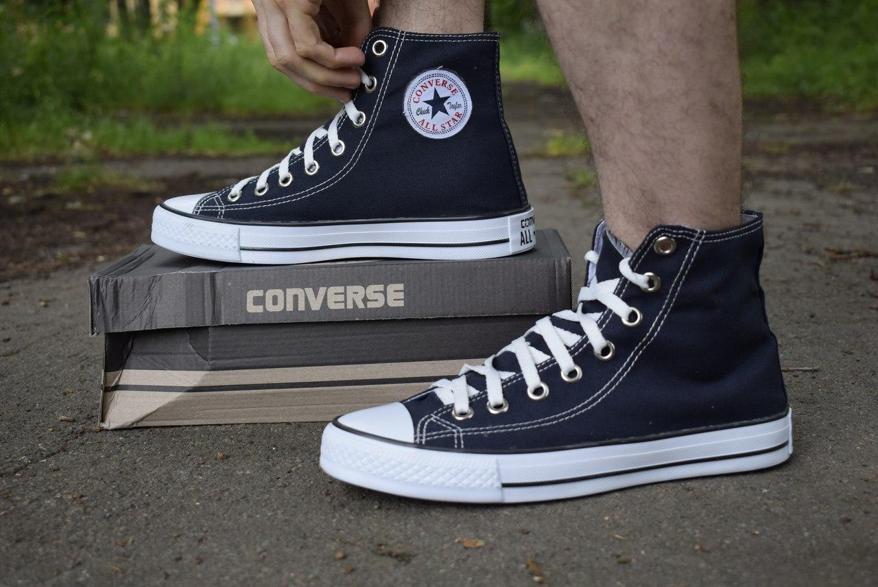 Темно-синие высокие мужские кеды Converse All Star купить в Украине ... 74c38b683b716