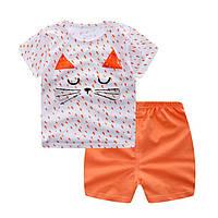 Детская футболка и шорты для девочки летние