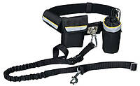 Поводок Trixie Waist Belt with Leash для собак с поясом, нейлон, 1-1,35 м