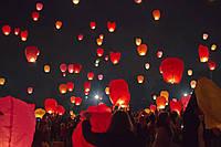 """Небесные фонарики """"Сердце"""", ,1 метр ,разных цветов"""
