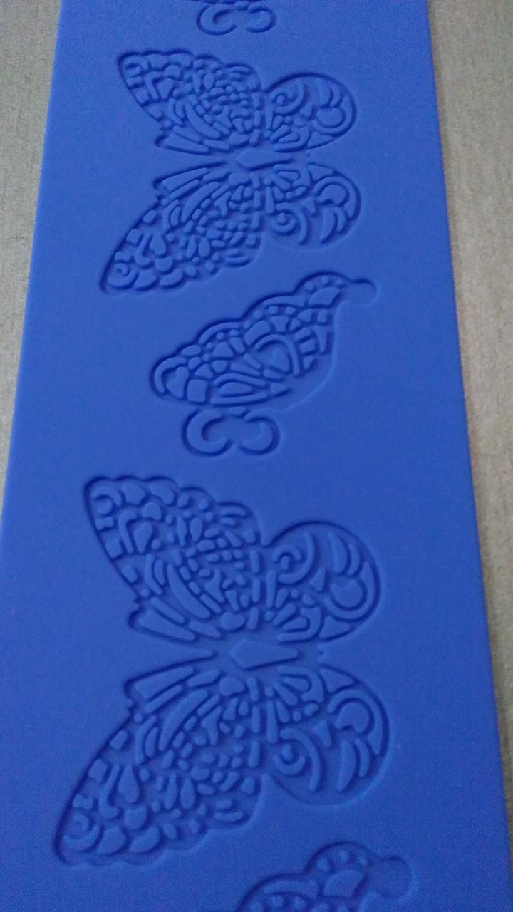 """Силиконовый коврик для кружев""""Lace Mat"""" бабочки (код 05925)"""