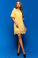 Эксклюзивная туника-платье из мокрого шелка Шатти
