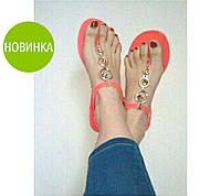 """Сандалии силиконовые """"Мелиша"""" - распродажа  белый, 23.5 см"""