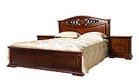 Кровать двуспальная из дерева 1,6 Лорен с твердым изголовьем, Киев