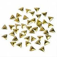 Металічні прикраси 100 шт трикутники золоті