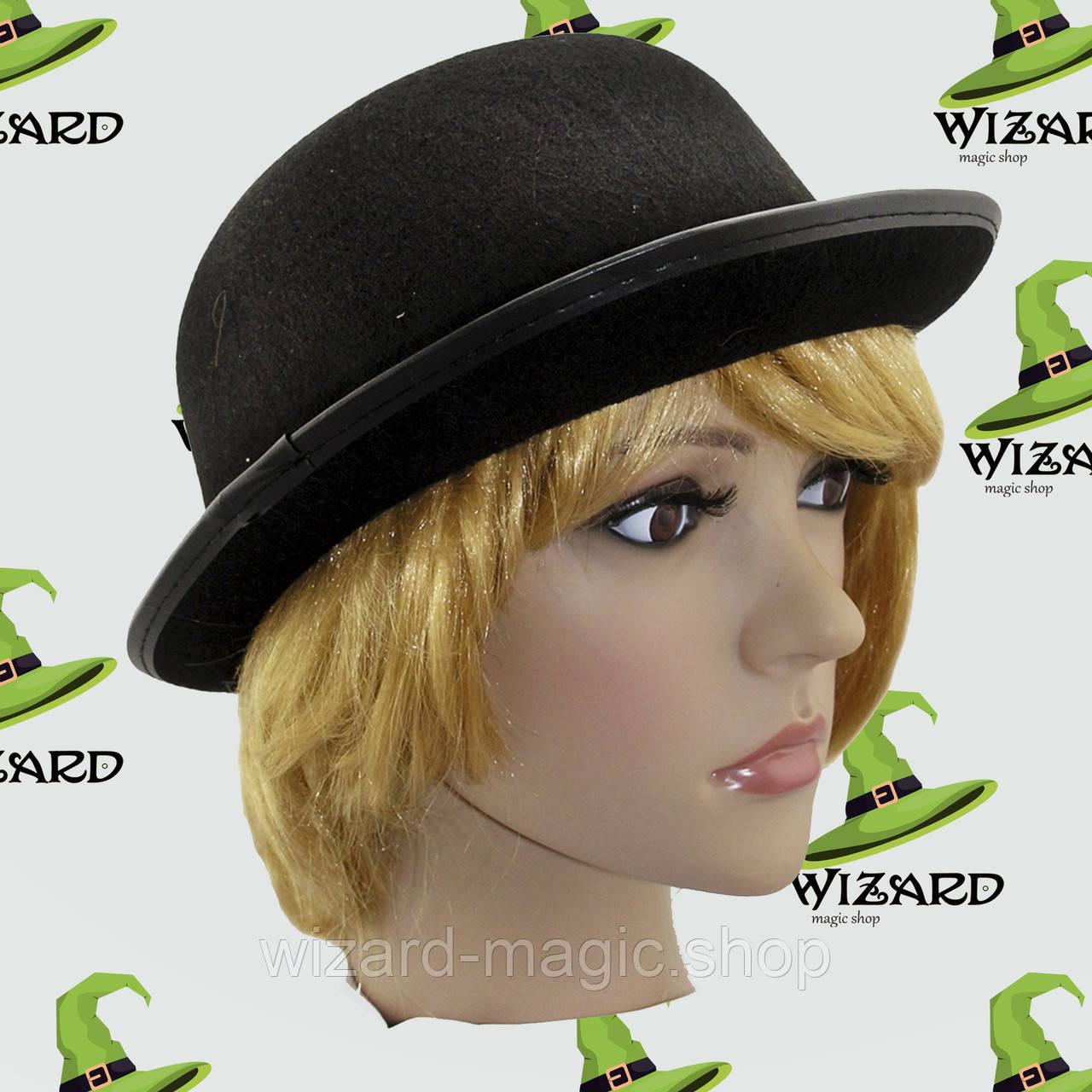Шляпа Котелок фетр черный