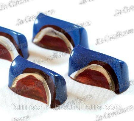 Поликарбонатная форма для шоколадных конфет PAVONI PC48