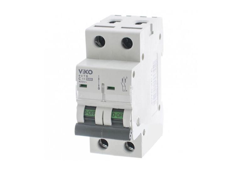 Двухполюсный автоматический выключатель VIKO, 10А