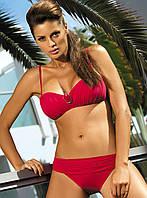 Раздельный купальник с брошью (S-2XL в расцветках) S, красный (sporting red)