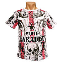 Стильная мужская футболка Paradise - №2380, Цвет разноцветный