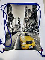 Рюкзак для сменой обуви на шнурках Такси
