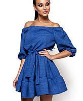 Расклешенное льняное платье (Дианаkr)