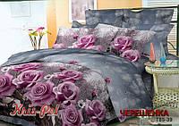 Полуторный набор постельного белья 150*220 из Полиэстера №8539 KRISPOL™