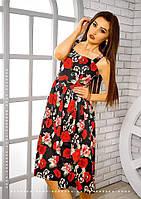 Платье сарафан с  юбкой миди  0548-3