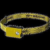Фонарь налобный Nitecore NU20 (Сree XP-G2 S3, 360 люмен, 6 режимов, USB), желтый, фото 1
