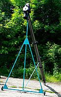 Шнековый транспортер (винтовой конвейер) в трубе 220 мм, длиной 10 м, 32 т/час, двигатель 5,5 кВт