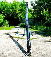 Шнековый транспортер (винтовой конвейер) в трубе 220 мм, длиной 9 м, 32 т/час, двигатель 5,5 кВт