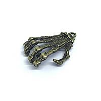 Металлические накладки. Цвет античная бронза. Рука. 37х21мм