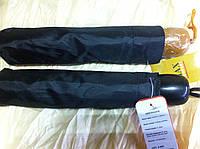 Мужской зонт чёрный три сложения полуавтомат