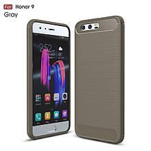 Чехол накладка TPU Fiber Carbon для Huawei Honor 9 серый