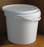 Пластиковое ведро круглое 20л герметичное, с контрольной пломбой, ручкой и крышкой