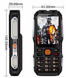 Противоударный телефон Land Rover (DBEIF D2016) 2 сим,2,8 дюйма,двойной фонарик,TV,13800 мА/ч., фото 3