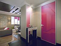 Межкомнатная стеклянная дверь в алюминиевой раме