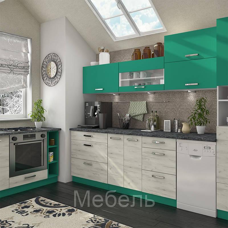 Кухня Шарлотта комплект 2 метра абсент ф-ка Сокме