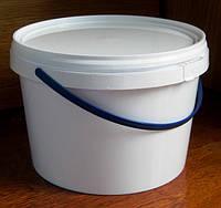Пластиковое ведро 2,3л. круглое, белое, герметичное, с контрольной пломбой, ручкой и крышкой