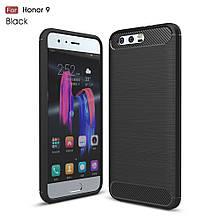Чехол накладка TPU Fiber Carbon для Huawei Honor 9 черный