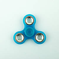 Спиннер пластиковый полупрозрачный синий