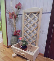 Подставка для цветов с решеткой