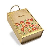 Подарочный ящик из дерева Маки