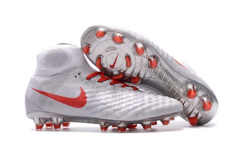 Мужские бутсы Nike Magista Obra 2 FG grey-red