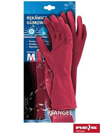 Перчатки защитные резиновые флоковые RF R, фото 2
