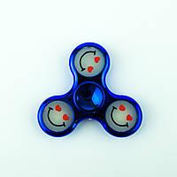 Спиннер пластиковый синий с силиконовыми вставками Spinner plast 070-R