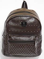 Рюкзак кож.зам.карманчик цвет темный шоколад