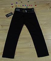 Модні чорні штани для хлопчика на ріст 116-158 см
