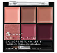 Палетка помад Nude Lips To Go – 6 Color Lipstick Palette BH Cosmetics. Оригинал
